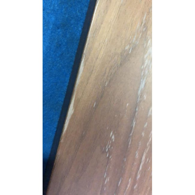 (As-is) Myron Rectangle Coffee Table - Walnut, Matt Silver - 5 - 9