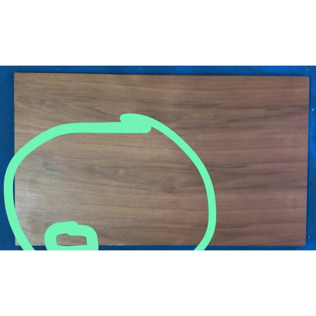 (As-is) Myron Rectangle Coffee Table - Walnut, Matt Silver - 5 - 1