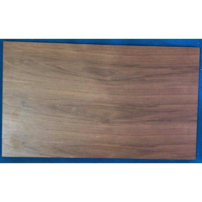 (As-is) Myron Rectangle Coffee Table - Walnut, Matt Silver - 5 - 5