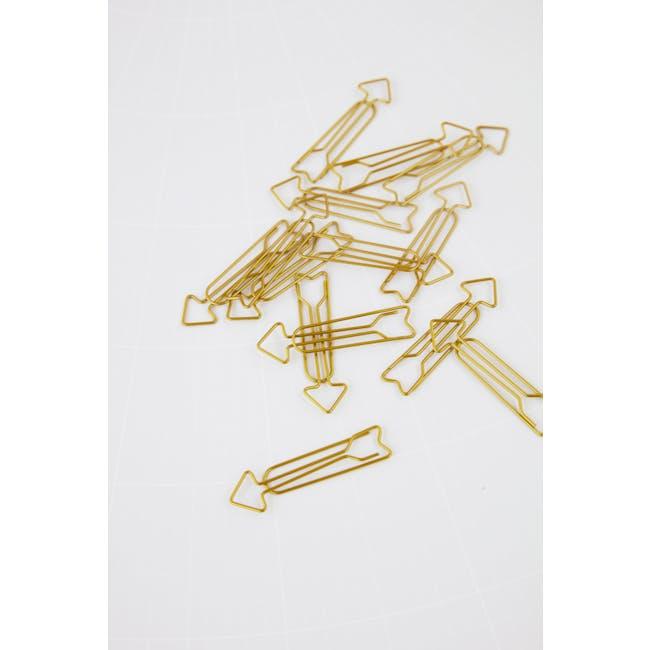 Arrow Paper Clips - Brass (Set of 15) - 1