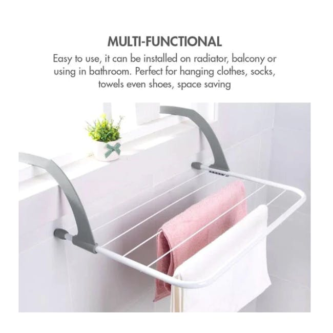 HOUZE Wall Hanging Radiator Drying Airer (2 Sizes) - 2