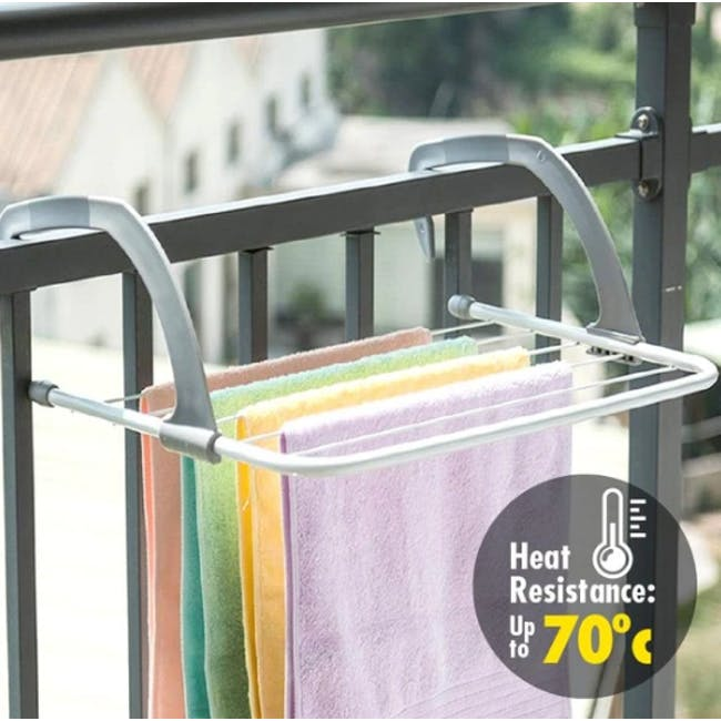 HOUZE Wall Hanging Radiator Drying Airer (2 Sizes) - 3