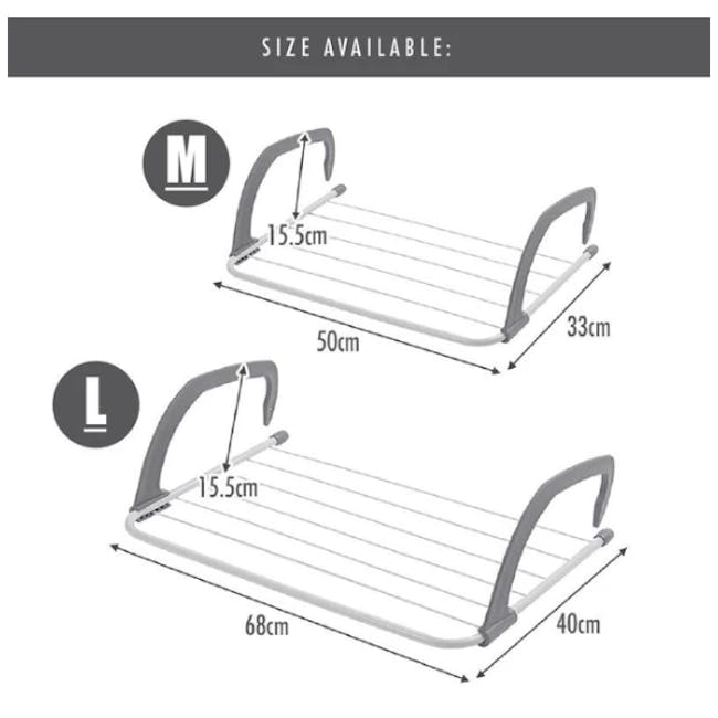 HOUZE Wall Hanging Radiator Drying Airer (2 Sizes) - 6