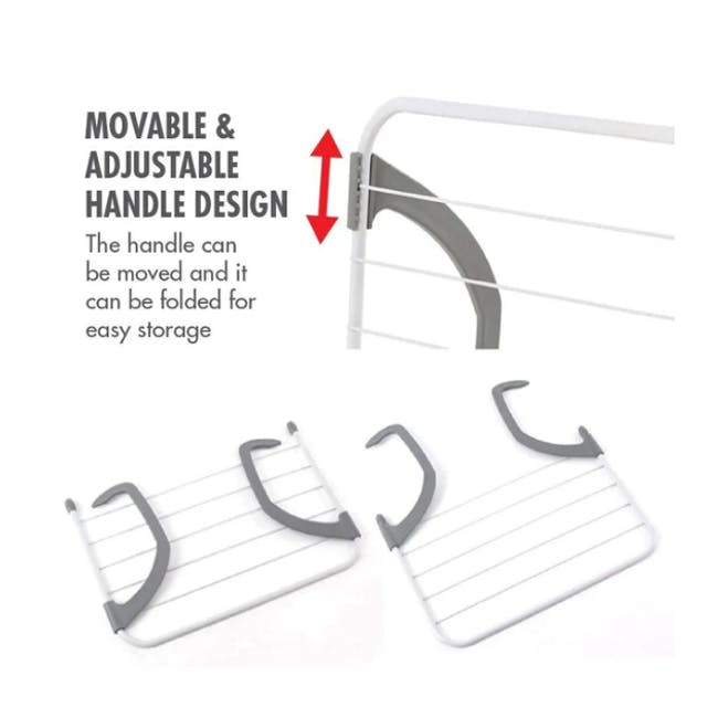 HOUZE Wall Hanging Radiator Drying Airer (2 Sizes) - 9