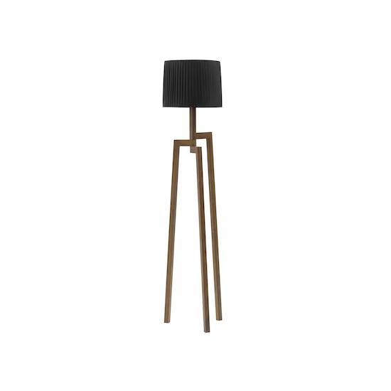 Springbud - Maya Floor Lamp - Walnut, Black