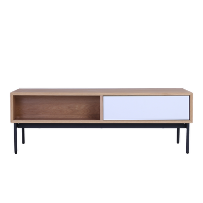 Bacchus Coffee Table - White, Oak - Image 1