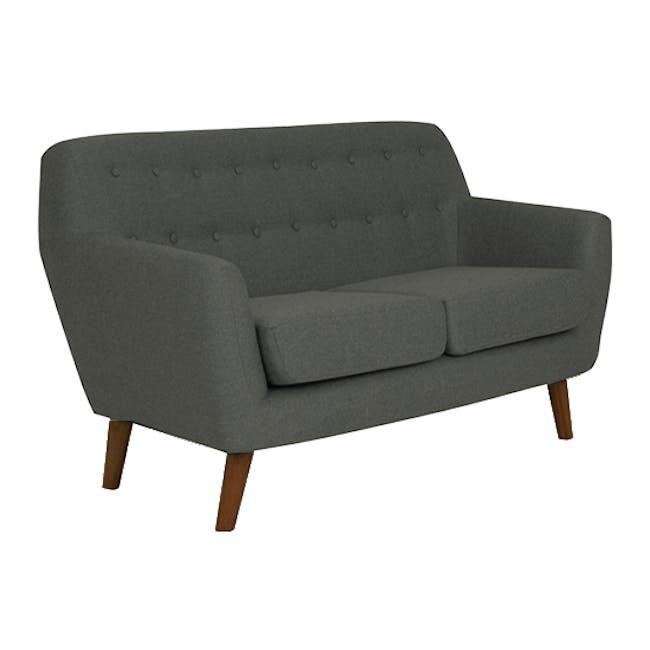 Emma 3 Seater Sofa with Emma 2 Seater Sofa - Raven - 14