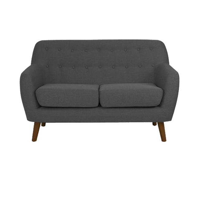 Emma 2 Seater Sofa with Emma Armchair - Raven - 2