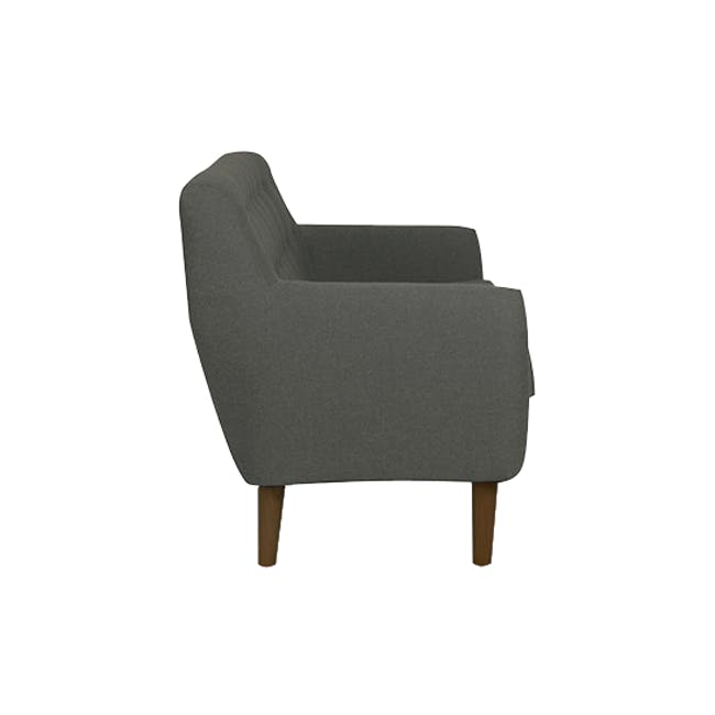 Emma 2 Seater Sofa with Emma Armchair - Raven - 4