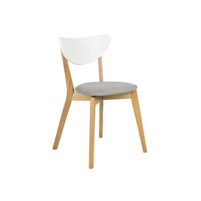 Harold Dining Chair - Natural, Grey - Image 1
