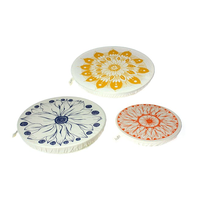 Halo Large Dish Cover Set of 3 - AD Edible Flowers - 0