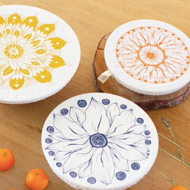 Halo Large Dish Cover Set of 3 - AD Edible Flowers - 3