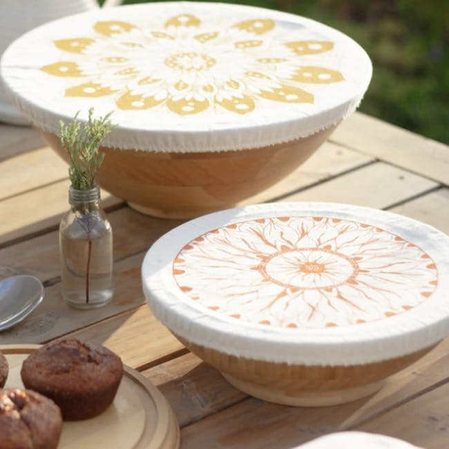 Halo Large Dish Cover Set of 3 - AD Edible Flowers - 2