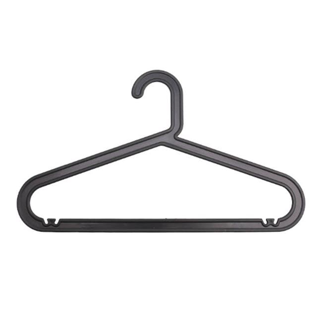 Zoe Plastic Hangers (Set of 10) - Black - 0