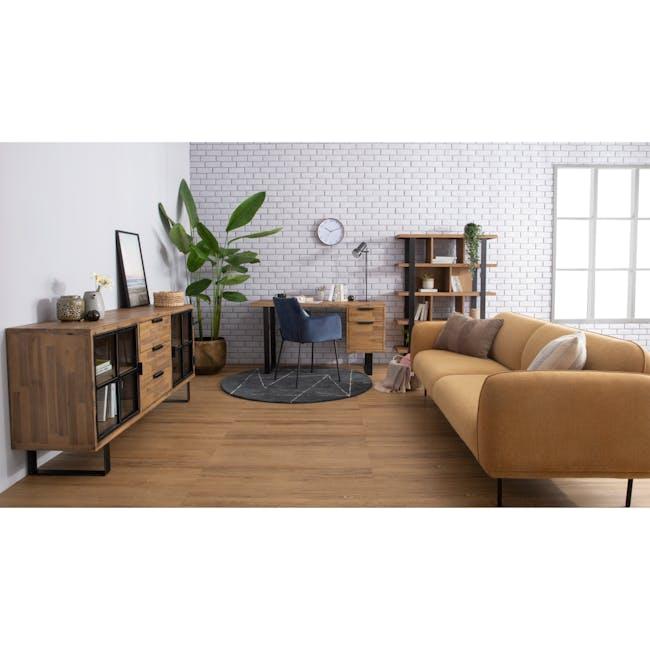Miura 3 Seater Sofa - Turmeric (Easy Clean Fabric) - 2