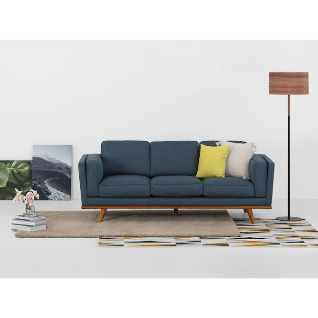 Carter 3 Seater Sofa - Space Blue - 1
