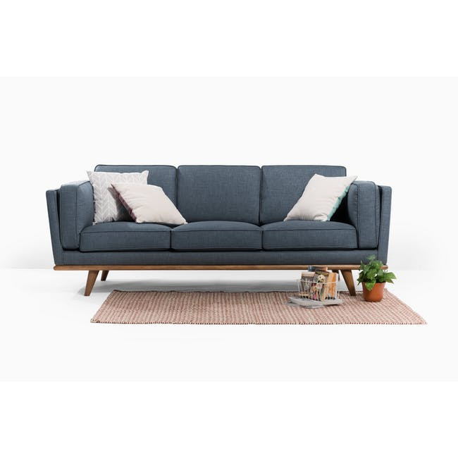 Carter 3 Seater Sofa - Space Blue - 9