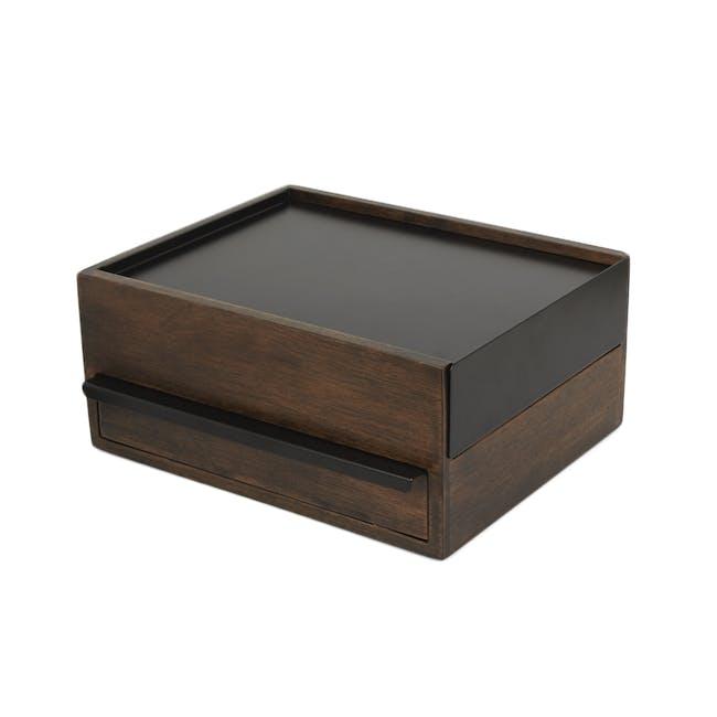 Stowit Storage Box - Black, Walnut - 0