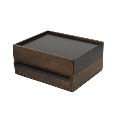 Stowit Storage Box - Black, Walnut - Image 1