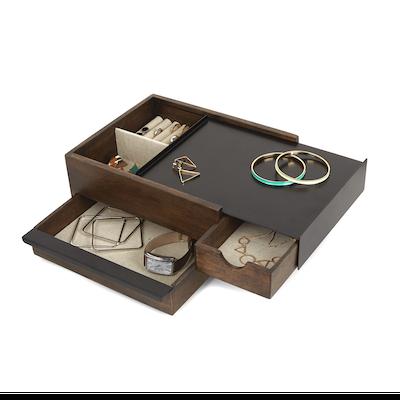 Stowit Storage Box - Black, Walnut - Image 2