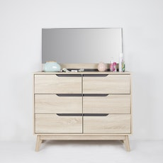 San Francisco 6 Drawer Chest with Mirror