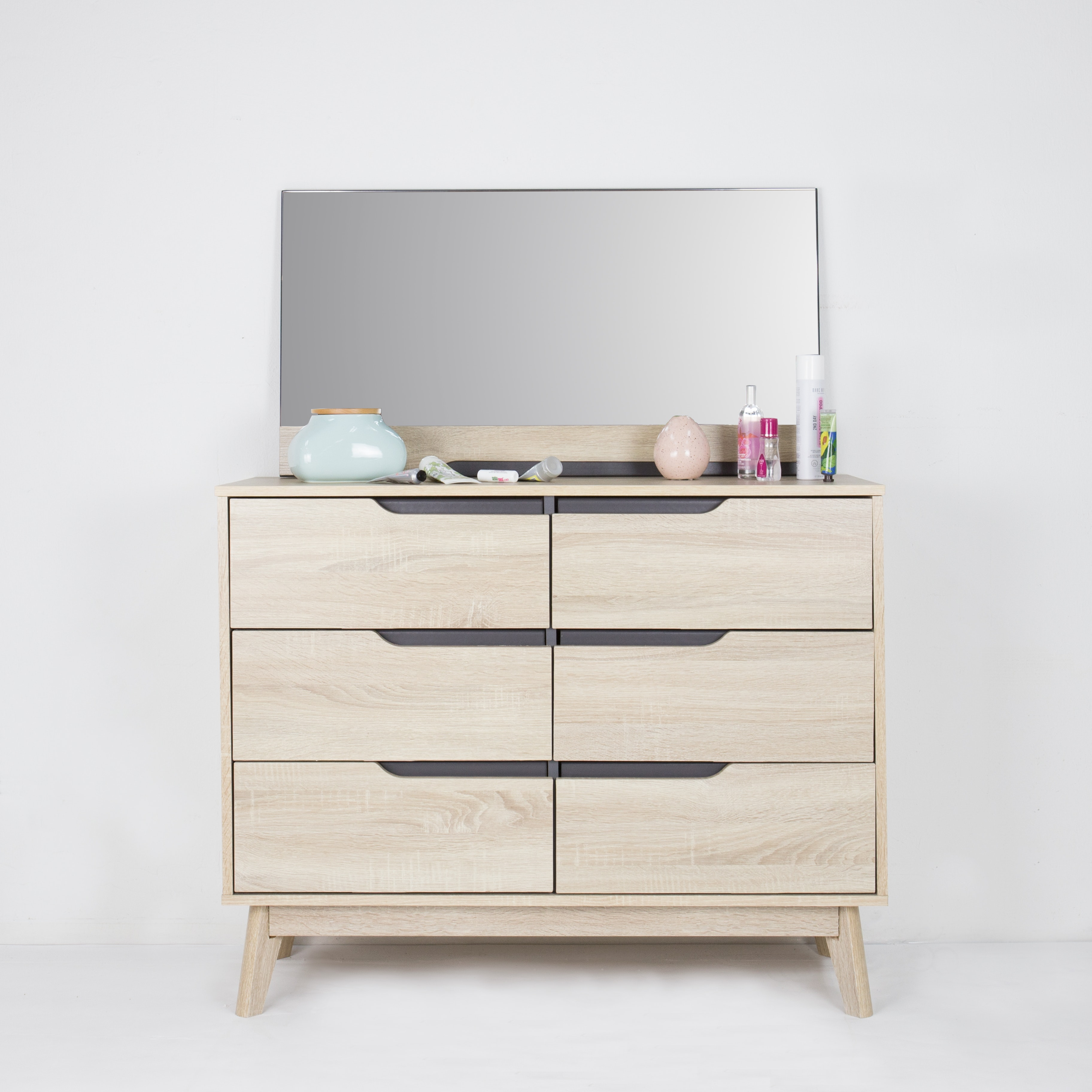 Parker 6 Drawer Chest With Mirror   Image 2 ...