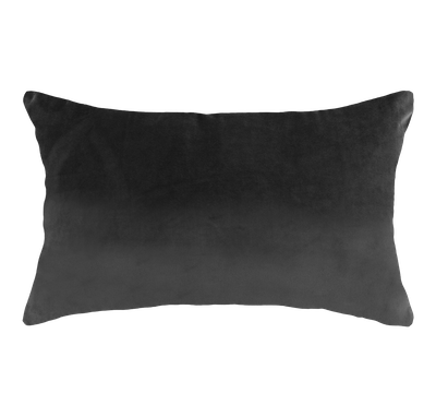 Alyssa Velvet Lumbar Cushion - Grey - Image 1
