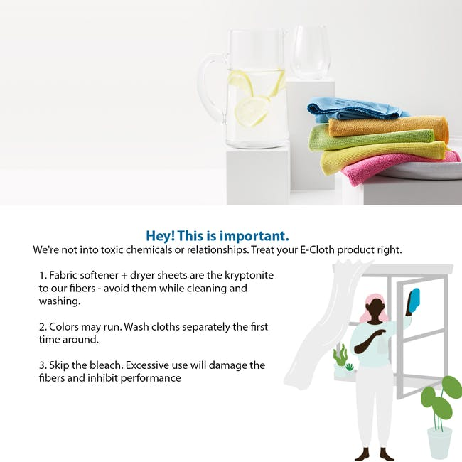 e-cloth Wash and Wipe Kitchen Eco Cleaning Cloth Pack (Set of 2) - 6