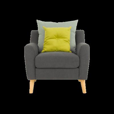 Evan Jr. Armchair with Cushions - Granite - Image 1