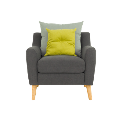 (As-is) Evan Jr. Armchair with Cushions - Granite - 1 - Image 1