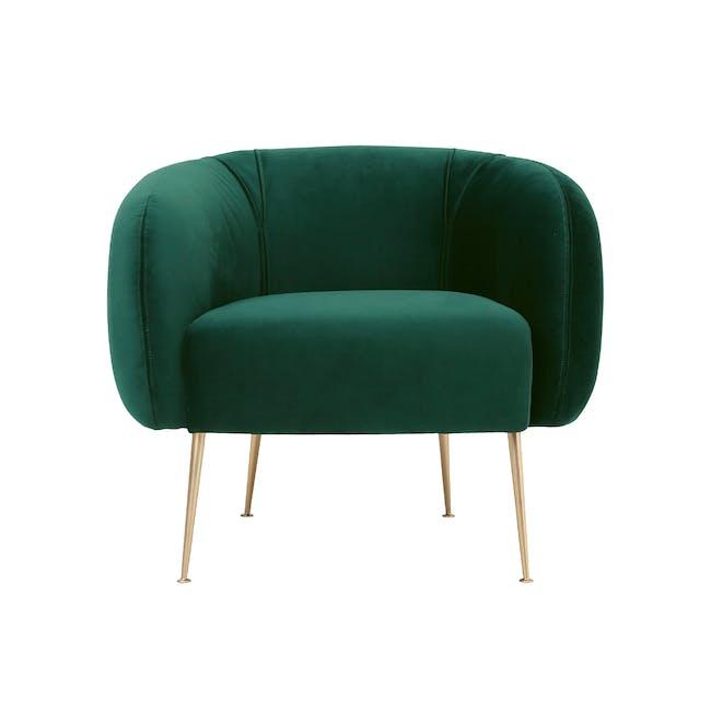 Alero Armchair - Dark Green (Velvet) - 0