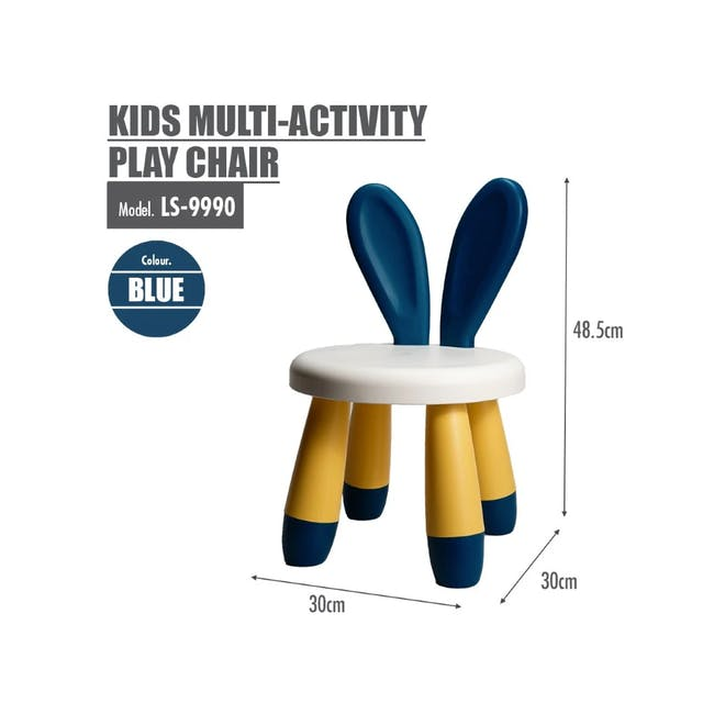 Kids Multi-Activity Play Chair - Blue - 1