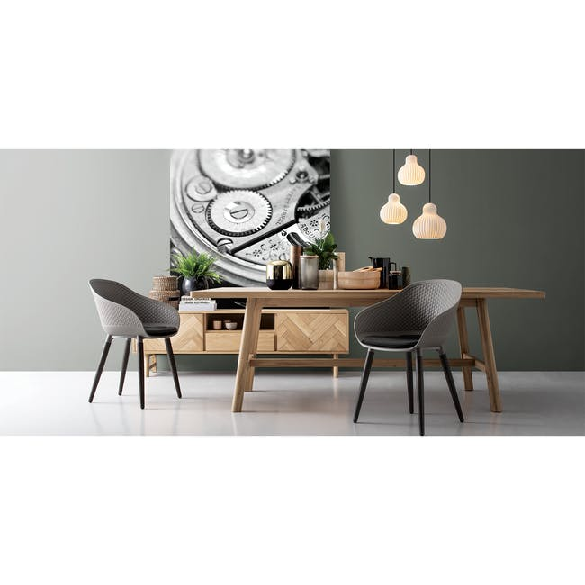 Gianna Dining Table 2.2m with 4 Cody Dining Armchairs - 1