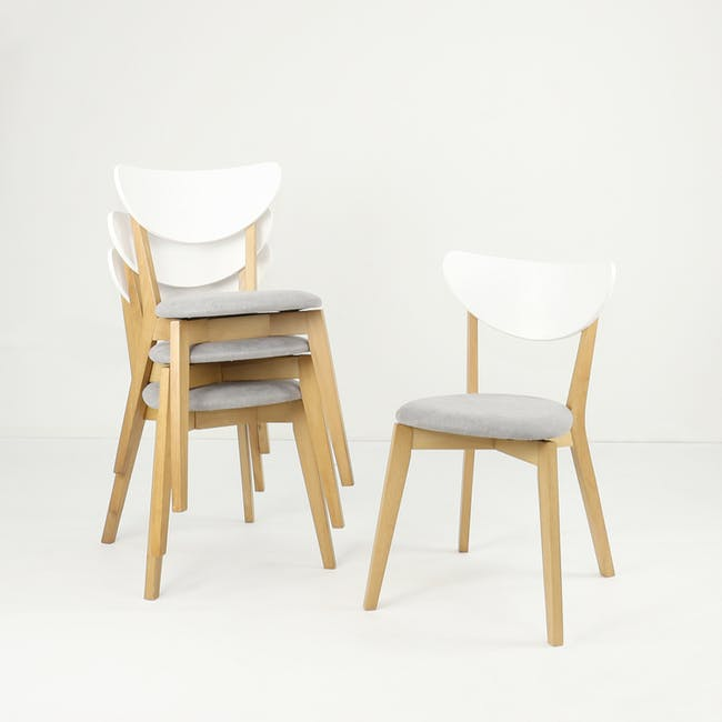 (As-is) Harold Dining Chair - Natural, Dolphin Grey - 1 - 16