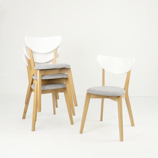 Harold Dining Chair - Natural, Dolphin Grey - 6