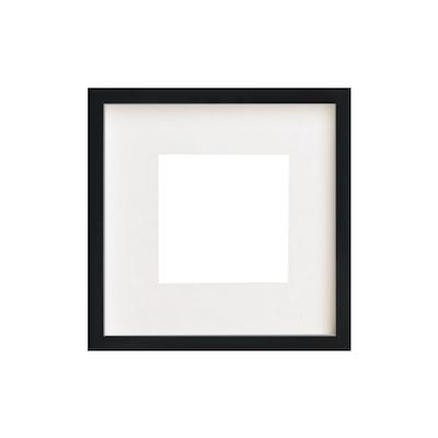 12-Inch Square Wooden Frame - Black - Image 1