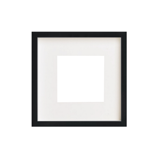 1688 - 12-Inch Square Wooden Frame - Black