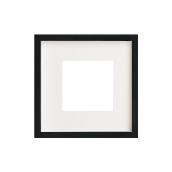 HipVan 12-Inch Square Wooden Frame - Black | HipVan