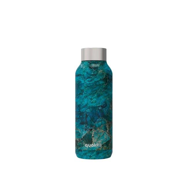 Quokka Stainless Steel Bottle Solid - Blue Rock 510ml - 0