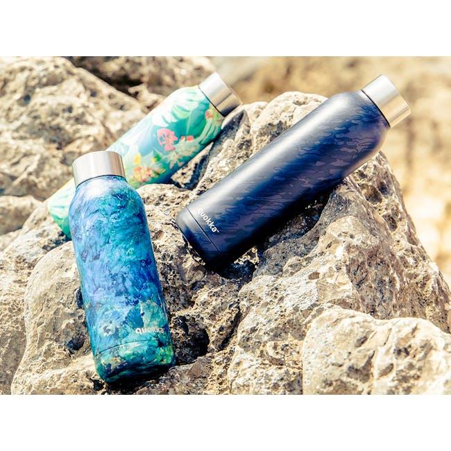 Quokka Stainless Steel Bottle Solid - Blue Rock 510ml - 1