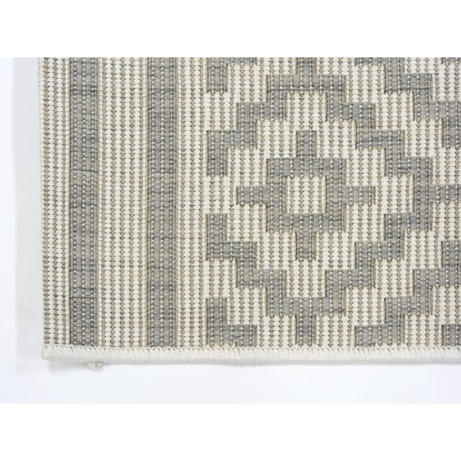 Essenza Flatwoven Rug 2.9m x 2m - Silver Nordic Lozenge - 3