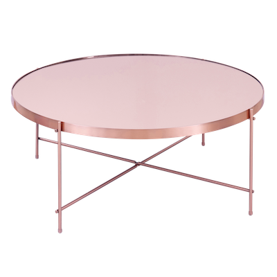 Chloe Round Coffee Table - Rose Gold - Image 1