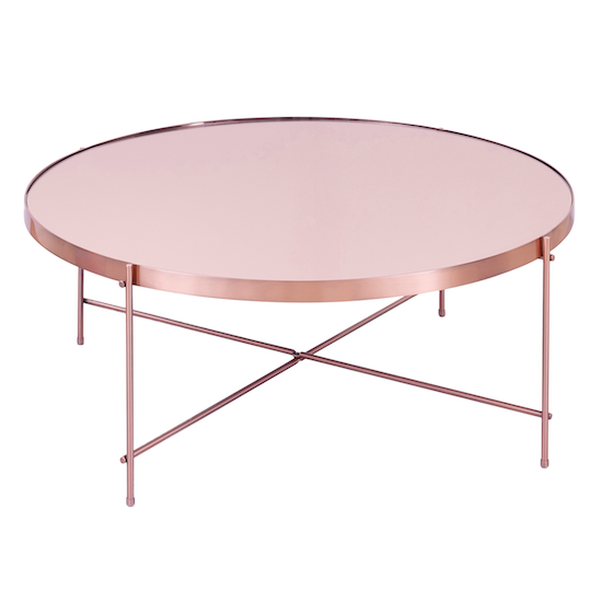 SourceByNet Chloe Round Coffee Table - Rose Gold