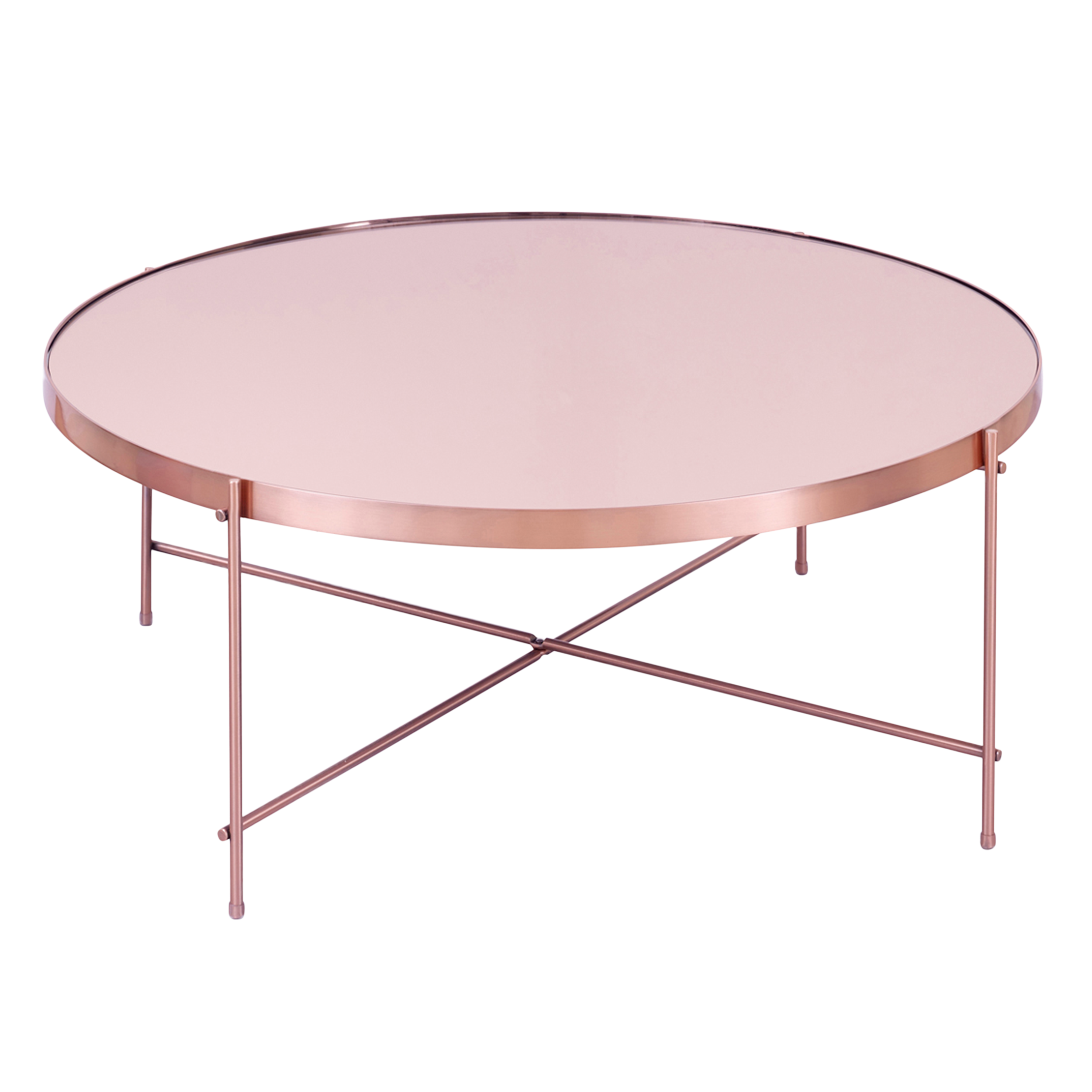 Charming Chloe Round Coffee Table   Rose Gold