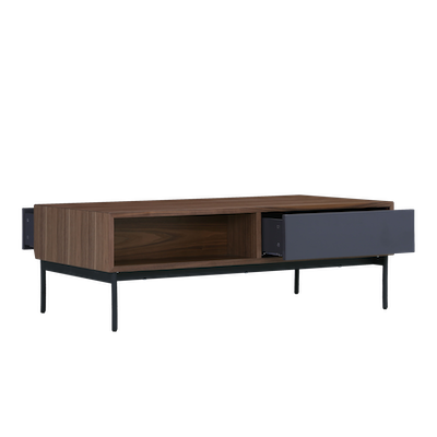 Bacchus Coffee Table - Grey, Walnut - Image 2