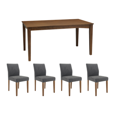 Darcy Dining Table 1.5m with 4 Ladee Dining Chairs - Image 1