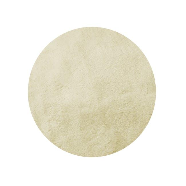 Mia High Pile Round Rug 1.3m - Cream - 0