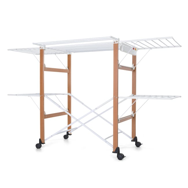 Foppapedretti Gulliver Foldable Wooden Clothes Airer - 0