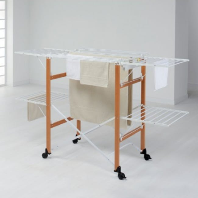 Foppapedretti Gulliver Foldable Wooden Clothes Airer - 1