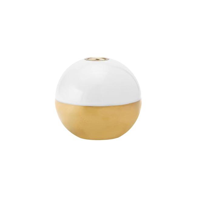 Kayla Candle Holder - White Gold - 0